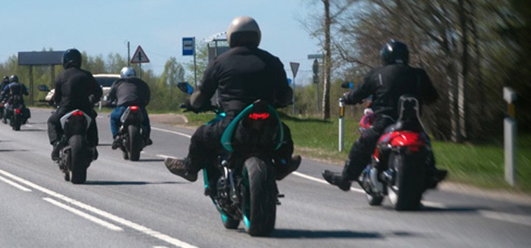 Motorcycle group riding rules