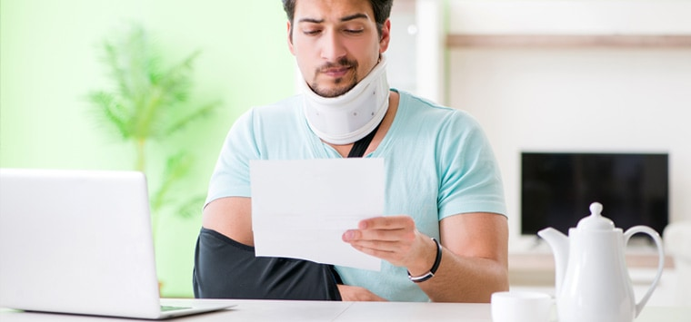 Who pays medical bills after a motorcycle accident?
